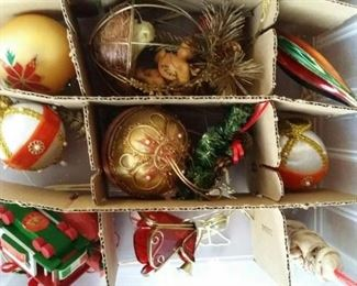 Lots of Christmas decorations and decor