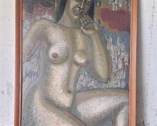 """Avis Zeidler 72"""" x 48"""" oil on masonite. Painted for 1939 Golden Gate Exposition in San Francisco."""