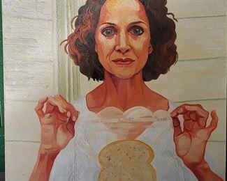 Patricia Knop. Large portrait of Valerie Harper. Oil on canvas.