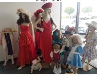 Mannequins priced separately, reasonable offers considered