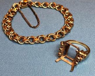 Gold Bracelent Ring Band