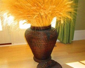 Dried Wheat in Woven Vessel