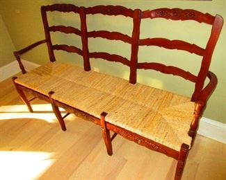 Three Seat Ladder Back Bench