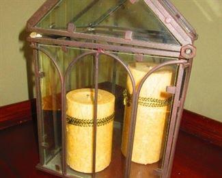 Iron & Glass Candle Box