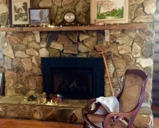 Cozy Fireplace Vignette https://ctbids.com/#!/description/share/297930