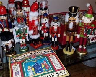 "Full 15 piece nutcracker with movable parts, 16"" inches tall. Comes with book"