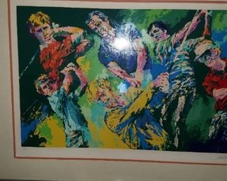 "Leroy Neiman  seriograph 29/500 signed. ""THE  4 MASTERS""  VERY COLLECTIBLE WITH VERY LOW NUMBER IN SERIES!"