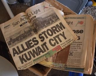 San Antonio Light Vintage Newspaper