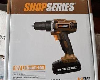 18 V lithium ion drill