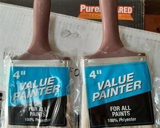 "(2) 4"" paint brushes"
