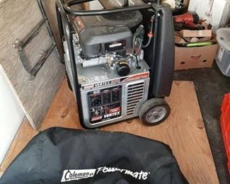 Coleman vertex 8000 professional vertical generator - cover included