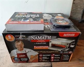 Namath rapid cooker infrared cooker - includes converter hose and cover & carrying case
