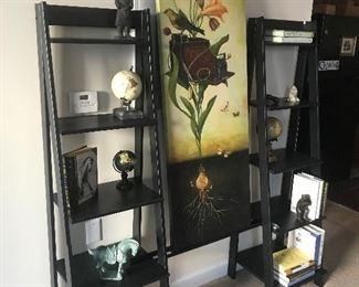 Step ladder shelving & wall art
