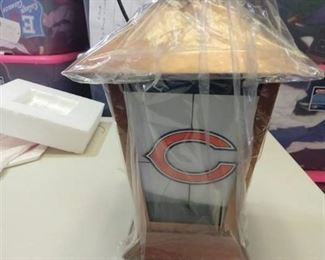 Chicago bears officially licensed candle lantern