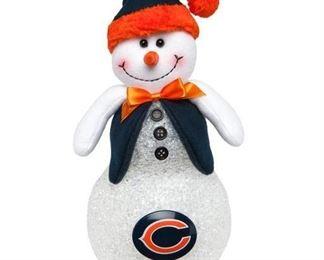 Chicago Bears LightUp Tabletop Snowman