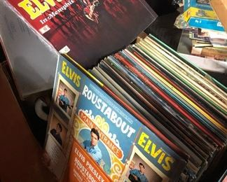 """Large Elvis collection of record albums 33""""s"""
