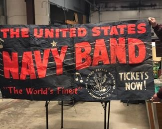 united states navy band official banner sign