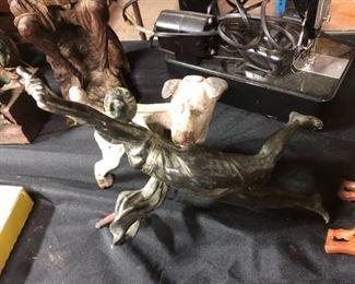 art nouveau bronze lady