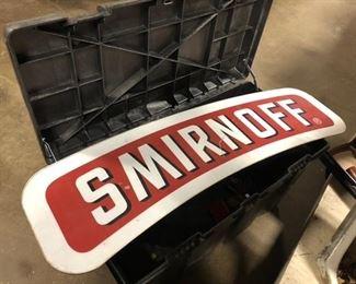 smirnoff aluminum sign