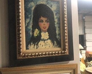 vintage painting of girl