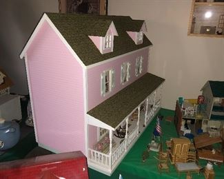 Pink Furnished Dollhouse
