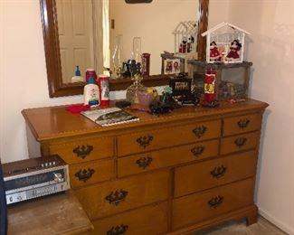 solid maple dresser set