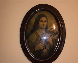 Catholic Nun antique framed art