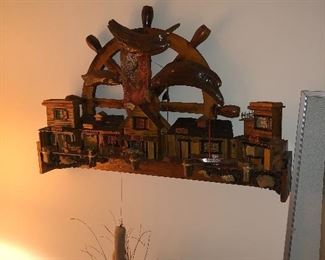 wood carved wall hanging