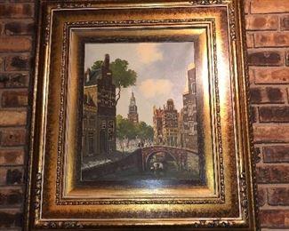 beautiful framed oil painting, signed Schaeffer