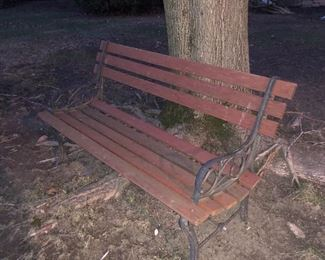 yard bench iron