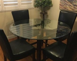 Glass top Dining Table and Chairs