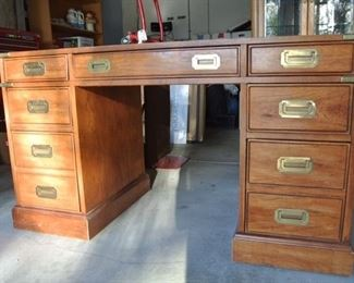 1970s Campaign Desk.  This is at the Sellers Second Home and Can Be Shown BY APPOINTMENT ONLY1970s Campaign Desk