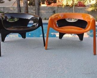 1970s Fibrella Fiberglass Chairs