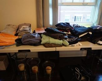 MEN AND WOMAN ATHLETIC CLOTHES INCLUDING LULU LEMON