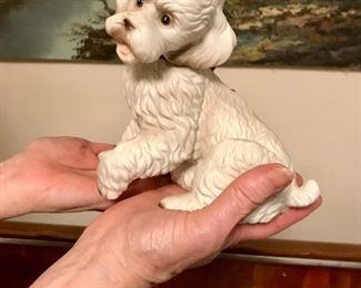 Vintage Arnart Porcelain Sculpture Poodle Puppy