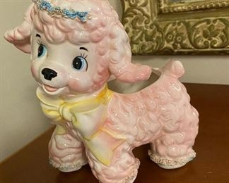 """""""Poodle Puppy"""" vintage Arnart  porcelain"""