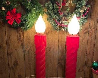 Vintage Christmas Candle Lights