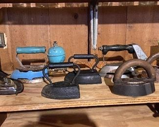 Old primitive irons