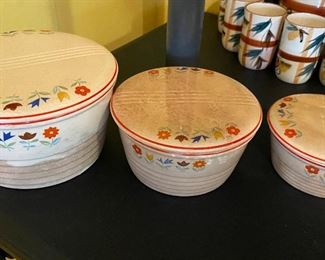 Universal Potters - Made in the USA  oven proof 3 casserole bowls.