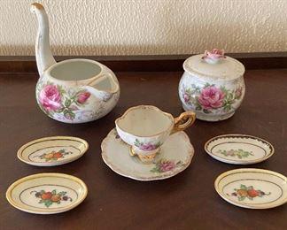 Noritake and Lefton  tea sets