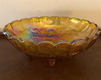 Old carnival footed bowl