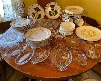 Nice cut glass and dish sets