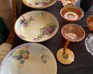 Hand painted Bavaria bowls