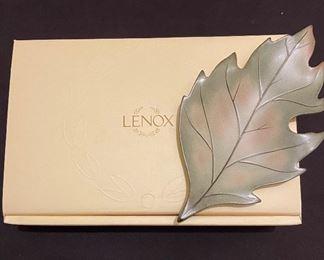 "Lenox new in box ""Nature's Impressions"" leaf dish"