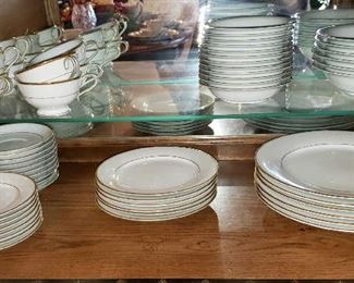 Noritake Gilford China Complete Service for 12 with extras