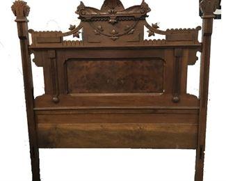 LAN749 Eastlake Bed Frame Local Pickup: Headboard, Footboard, Rails and Slots  https://www.ebay.com/itm/124045439861