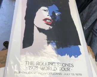 LAN764: The Rolling Stones 1978 World Tour New Orleans Superdome Signed & #ed Lithographe https://www.ebay.com/itm/124045430118