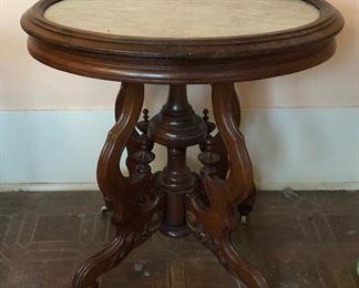 https://www.ebay.com/itm/114065245328  SL3004: Rococo White Marble Top Table Local Pickup