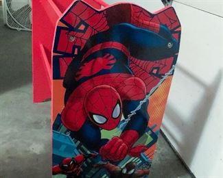 Spider-Man toy storage rack