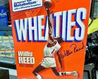 Wheaties box signed by Willis Reed